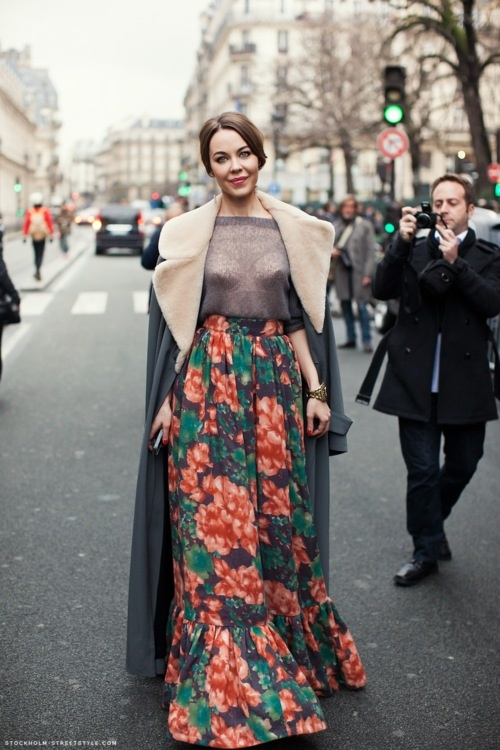 ulyana-sergeenko-floral-skirt